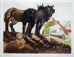 Maurice LANGASKENS (GAND, 1884 - SCHAERBEEK, 1946) - Le - Estampes & Gravures