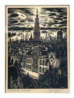 Frans MASEREEL - Osterrieth Huis, Antwerpen. - Estampes & Gravures