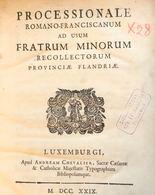 PROCESSIONALE ROMANO-FRANCISCANUM Ad Usum Fratrum Minor - Non Classés