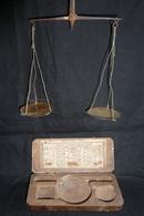 Balance - Trebuchet 18 ème Avec Son étui En Bois -  Manque  Poids !!! Réf, A3 - Joyas & Relojería