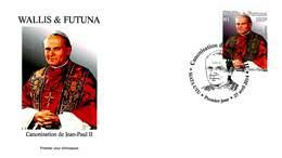 FDC Wallis Et Futuna De 2014 - Canonisation De Jean-Paul II - FDC
