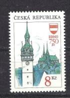 Czech Republic 1993 MNH ** Mi 9 Sc 2885. 750 Years Of The City Brno. 750 Jahre Stadt Brno. Tschechische Republik - Czech Republic
