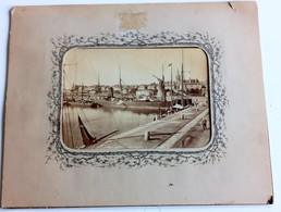 SAINT-MALO GRANDE PHOTOGRAPHIE ALBUMINE 1880 MONTEE SOUS MARIE-LOUISE PHOTOGRAPHE N.D. - Saint Malo