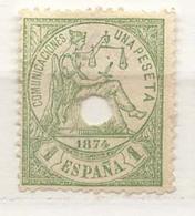 Año 1874 Edifil 150T Alegoria Telegrafos 1 Peseta - 1873-74 Regentschaft