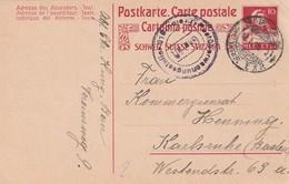 Schweiz / 1919 / Zensierte Postkarte Von Bern Nach Karlsruhe (AD05) - Switzerland