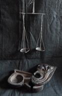 Balance - Trebuchet Ancien Avec Son étui En Bois - Réf, A12 - African Art