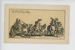 Jacques Callot 1592/1635 Dessinateur Graveur : Les Bohémiens, Le Départ (cp Vierge) - Illustratoren & Fotografen