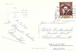 SITGES CARTOLINA PER BELGIO - 1961-70 Storia Postale