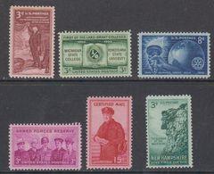 USA 1955 6v ** Mnh (46149) - Neufs