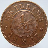 LaZooRo: Norway 1/2 Skilling 1867 XF - Guernsey