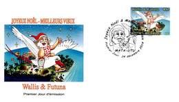 FDC Wallis Et Futuna De 2014 - Joyeux Noël - Meilleurs Vœux - FDC