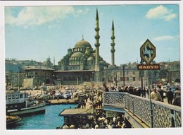 TURKEY  - AK 373228  Istanbul - Galata Bridge And New Mosque - Turkey