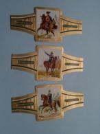 RITMEESTER ( Serie C - DUITSE CAVALERIE Allemagne / German Cavalry ) Nrs. 10-11-12 ( Zie Foto's ) ! - Bagues De Cigares
