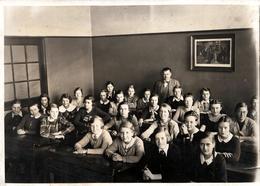 Grande Photo Originale Scolaire & Photo D'une Classe De Filles En 1935 - U III Vg - Personnes Anonymes