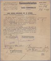 1916: Stad GENT / Ville De Gand : ## Gemeentelasten / Taxes Communales ## Aan / à ##BRUGGEMAN Jules, L. De Winnestr.,... - 1900 – 1949