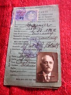 1941 CARTE IDENTITÉ PROFESSIONNELLE VOYAGEURS REPRÉSENTANT COMMERCE TITRE DE TRANSPORT 2 TIMBRE FISCAL DA - Historical Documents
