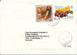 Viet Nam Cover Sent To Denmark 19-3-2002 - Vietnam