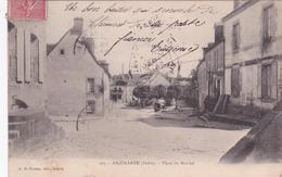 36-AIGURANDE (Indre)- Place Du MARCHE- A. De NUSSAC, GUERET-Ecrite-Timbrée 24/12/1904- (12/2/20) - Andere Gemeenten