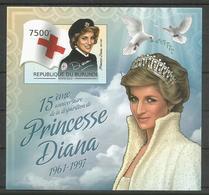Burundi 2012 S/S Time And Life Princess Of Wales Lady Diana Red Cross MNH** - Burundi