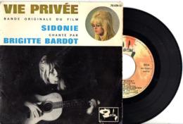 PREMIER EP DE BRIGITTE BARDOT - 1962 -  SIDONIE + 3 - B.O.F. VIE PRIVEE LOUIS MALLE - BON ETAT - - Musique De Films