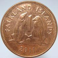 LaZooRo: Falkland Islands 1 Penny 2011 UNC - Falkland Islands