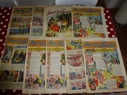 Ames Vaillantes, 1948 à 1956,  Lot De 9 Numéros   ; L06 - Tarzan