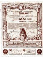Stad Gent - Ville De Gand: OBLIGATIE - OBLIGATION De 100 Fr. - Banque & Assurance