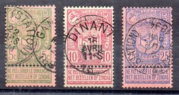 Bélgica Serie Completa Nº Yvert 68/70 O - 1894-1896 Exposiciones