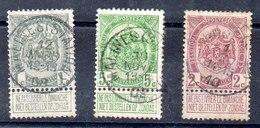 Bélgica Serie Completa Nº Yvert 81/83 O - 1905 Barbas Largas