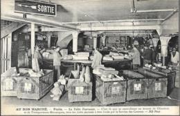 D75-PARIS-AU BON MARCHE-LA TABLE TOURNANTE-C'est Là Que Se Centralisent Au Moyen De Glissoires Et De Transporteurs.... - Autres
