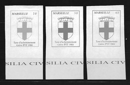 FRANCE 1988 - GREVES DES PTT - MARSEILLE - MAURY 44-45-46 - Grève