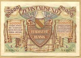 Allemagne 10000 Mark  Mannheim 01 Avril 1923 - 1918-1933: Weimarer Republik