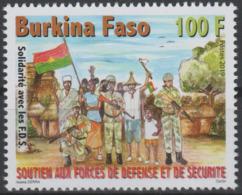 Burkina Faso 2019 Mi. ? Stamp Soutien Aux Forces De Défense Et De Sécurité Solidarité Avec Les FDS Flag Drapeau Military - Burkina Faso (1984-...)