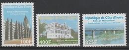 Côte D'Ivoire Ivory Coast 2013 Sites Et Monuments Bridge Pont Brücke Palais Palast Mosquée Moschee MNH** - Côte D'Ivoire (1960-...)