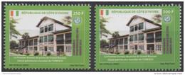 Côte D'Ivoire Ivory Coast 2015 Paire Satz Set 250 & 500F Conférence Stratégique UPU Grand-Bassam Unesco 2 Val. - Côte D'Ivoire (1960-...)