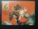 Carte Maximum Card Abeille Bee Centenaire Union Des Apiculteurs 1986 Luxembourg - Abeilles