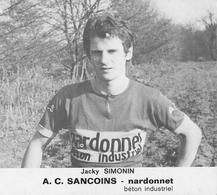 CARTE CYCLISME JACQUES SIMONEN TEAM NARDONNET 1974 - Ciclismo