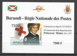 Burundi 2012 S/S Imperforate Time And Life Princess Of Wales Lady Diana Red Cross MNH** - Burundi