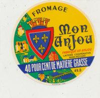 X 173 / ETIQUETTE FROMAGE   MON ANJOU  LAITERIE DE NOYANT 49 D. - Cheese