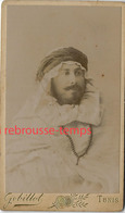 CDV  En 1894-TUNIS- Homme En Tenue Orientale, Arabe-photo Gobillot Avenue De France - Krieg, Militär