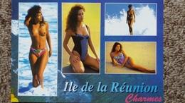 CPM PIN UP FEMME SEINS NUS ILE DE LA REUNION CHARMES CREOLE ED AGEDIS 1997 - Pin-Ups