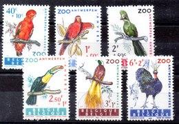 Bélgica Serie Completa Nº Yvert 1216/21 ** PAJAROS (BIRDS) - Bélgica