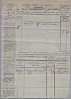 1828: Gemeente GENT :  ## Directe Belastingen ## Aan ## Wed. VANBRABANDERE, Predikheerstraat,5 ## Op Papier Met WATER... - 1900 – 1949