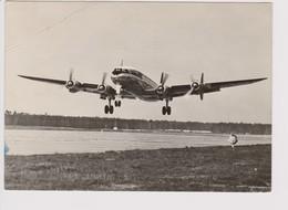 Vintage Rppc KLM K.L.M. Royal Dutch Airlines Lockheed Constellation L-1049 Aircraft - 1946-....: Era Moderna