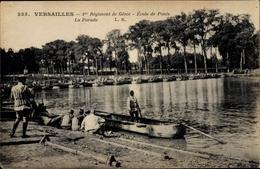 Cp Versailles Yvelines, 1er Régiment De Génie, École De Pont, La Parade - France