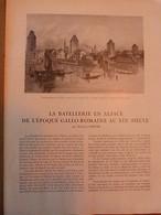 LA VIE EN ALSACE-Batellerie-L'Alsace Archéologique-Migrations Dans Le Textile - Livres, BD, Revues