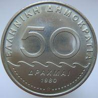 LaZooRo: Greece 50 Drachmai 1980 UNC - Grecia