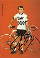 CARTE CYCLISME RAYMOND DELISLE SIGNEE YEAM PEUGEOT 1974 - Cyclisme