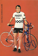 CARTE CYCLISME JEAN PIERRE DANGUILLAUME SIGNEE YEAM PEUGEOT 1974 - Cyclisme