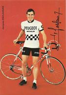 CARTE CYCLISME JACQUES ESCLASSAN SIGNEE YEAM PEUGEOT 1974 - Cyclisme
